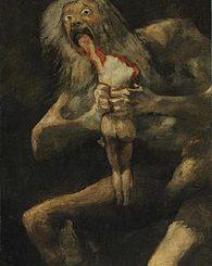 """Francisco Goya: """"Saturno che divora i suoi figli"""""""