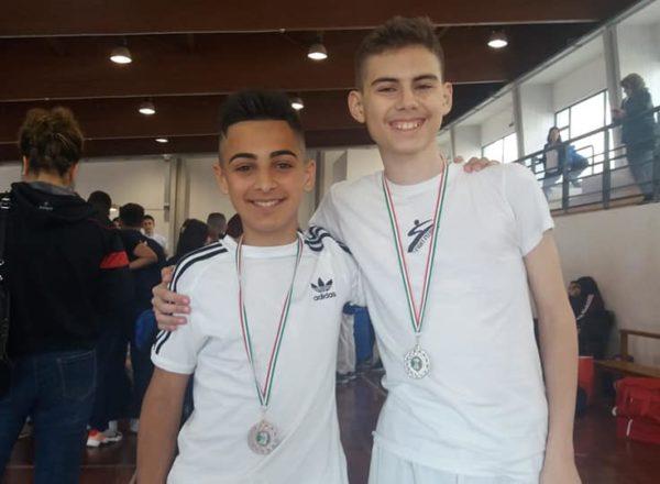 Leonardo le Rose e Greco Carmine, rispettivamente 2° e 3° Classificato al Campionato Regionale Cadetti