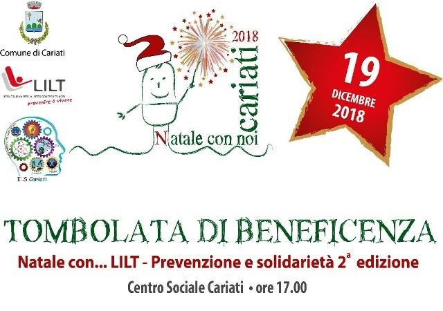 locandina tombolata LILT 19-12-2018